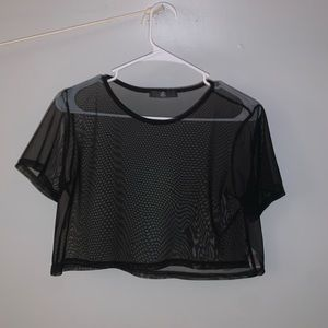 Misguided mesh crop top